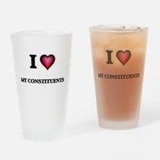 I love My Constituents Drinking Glass