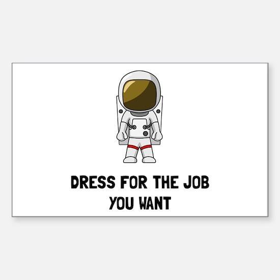 Astronaut Dres Decal