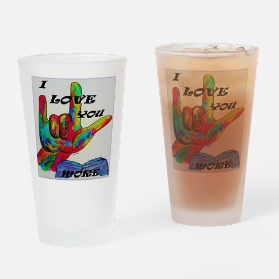 Funny Deaf art Drinking Glass