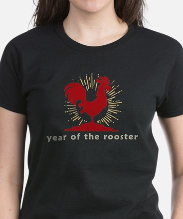Year of The Rooster Women's Dark T-Shirt