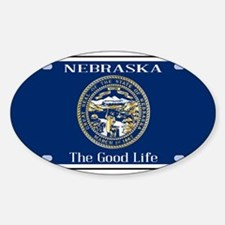 Nebraska License Plate Flag Decal