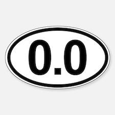 0.0 Zero Marathon Runner Decal