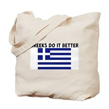 GREEKS DO IT BETTER Tote Bag