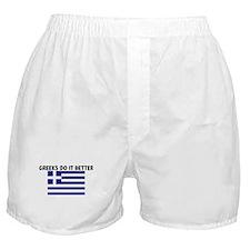 GREEKS DO IT BETTER Boxer Shorts