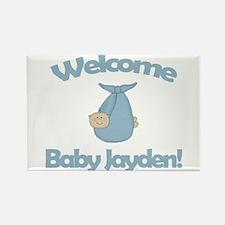 Welcome Baby Jayden Rectangle Magnet
