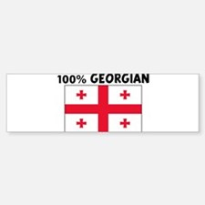 100 PERCENT GEORGIAN Bumper Bumper Bumper Sticker