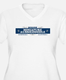 MINIATURE AUSSIEDOODLE Womes Plus-Size V-Neck T-Sh