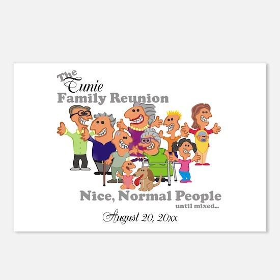 Personalized Family Reunion Funny Cartoon Postcard