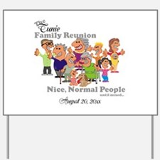 Personalized Family Reunion Funny Cartoon Yard Sig