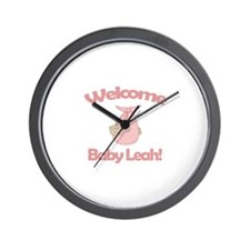 Welcome Baby Leah Wall Clock