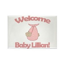 Welcome Baby Lillian Rectangle Magnet