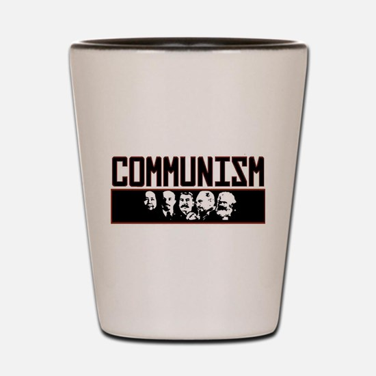 Communism: Marx, Castro, Stalin, Lenin, Shot Glass