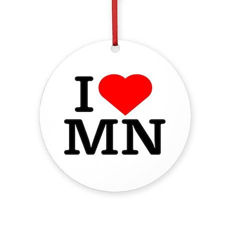 I Love Minnesota - Keepsake (Round)