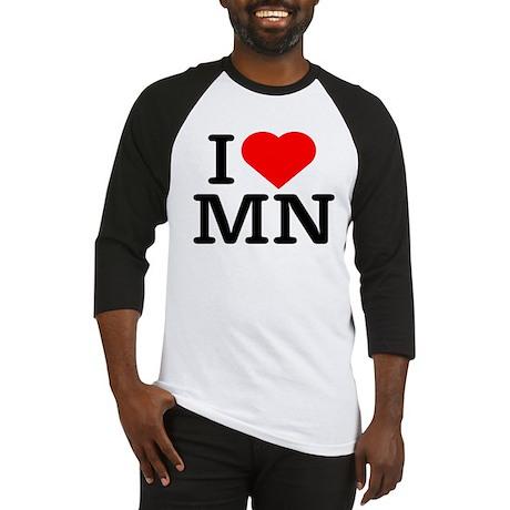 I Love Minnesota - Baseball Jersey