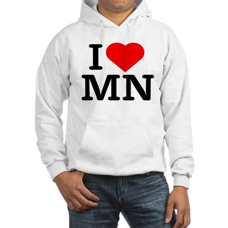 I Love Minnesota - Hooded Sweatshirt