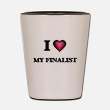 I Love My Finalist Shot Glass