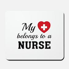 Heart Belongs Nurse Mousepad