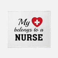 Heart Belongs Nurse Stadium Blanket