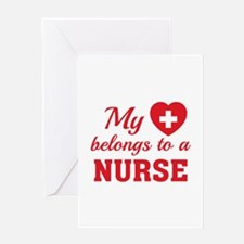 Heart Belongs Nurse Greeting Card