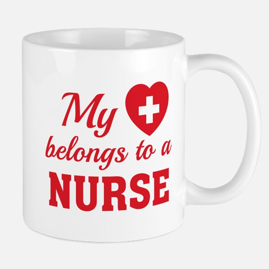Heart Belongs Nurse Mug
