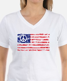Vintage Peace In America Ash Grey T-Shirt