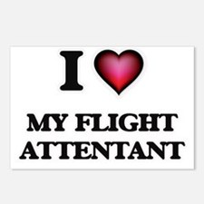 I Love My Flight Attentan Postcards (Package of 8)
