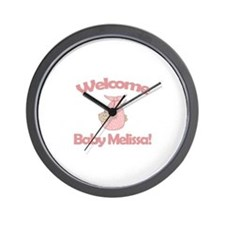 Welcome Baby Melissa Wall Clock