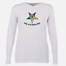 Unique Oes eastern star Plus Size Long Sleeve Tee