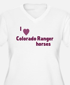 Colorado Ranger horses Plus Size T-Shirt