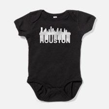 Roots Of Houston TX Skyline Baby Bodysuit