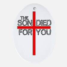 The Son Died For You Christia Keepsake (Oval)