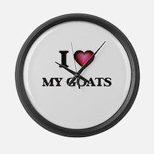 I Love My Goats Large Wall Clock