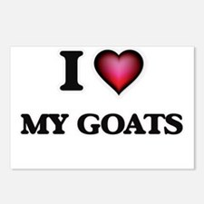 I Love My Goats Postcards (Package of 8)