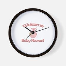 Welcome Baby Rowan Wall Clock