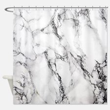 Cute Black and white Shower Curtain