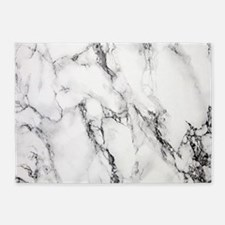 White Marble 5'x7'Area Rug