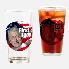 Bill First Lady Drinking Glass