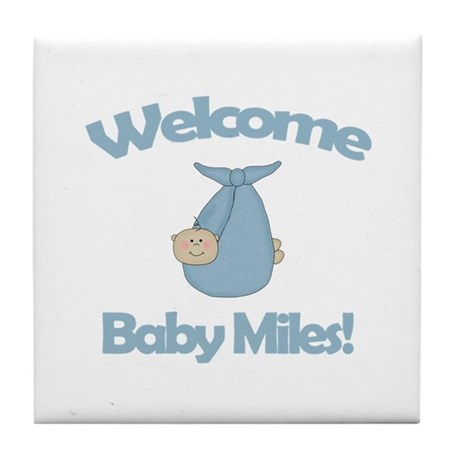 Welcome Baby Miles Tile Coaster