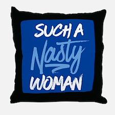 Clinton-Nasty Woman Throw Pillow