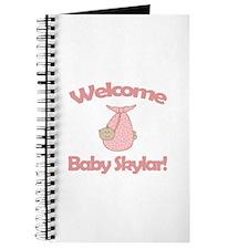Welcome Baby Skylar Journal