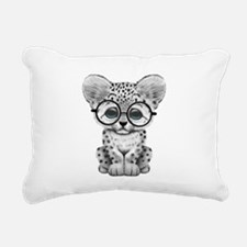 Cute Snow Leopard Cub Wearing Glasses Rectangular