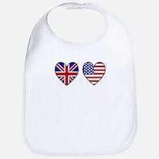 Cool British flag Bib