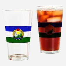 Flag of Socialist Cascadia Drinking Glass