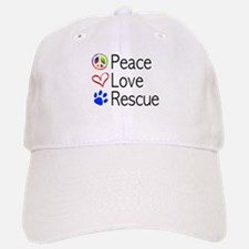 Peace Love Rescue Baseball Baseball Baseball Cap