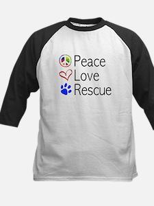 Kids Peace Love Rescue Baseball Jersey