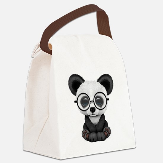 Cute Panda Canvas Lunch Bag
