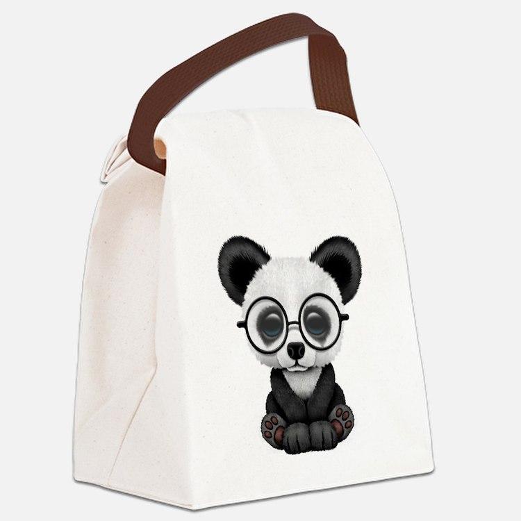 Cute Eyed Canvas Lunch Bag