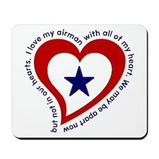 Heart service Flag - Airman Mousepad