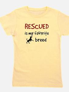 Kids Rescued Is My Favorite Breed Girl's Tee