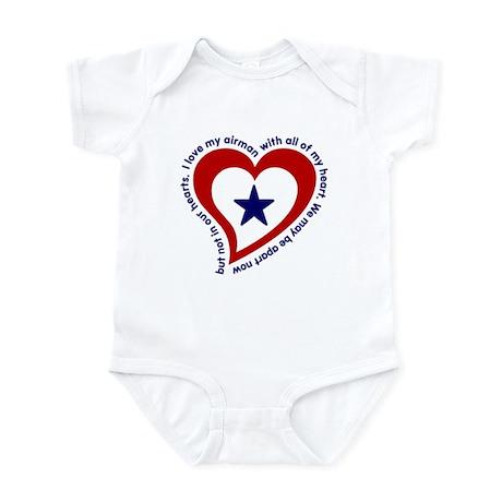 Heart service Flag - Airman Infant Creeper